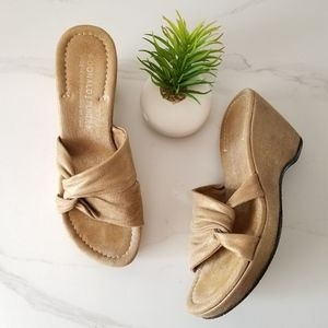 DONALD J. PLINER Vivi Wedge Slide Sandals Heels